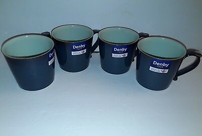 Denby Peveril 4 Large Mugs New Made In England