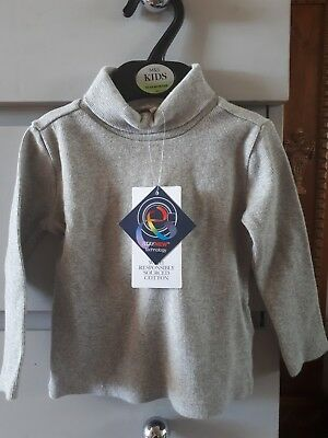 Grey Marl Roll Neck Top 12-18 Months BRAND NEW WITH TAGS (MARKS & SPENCERS)