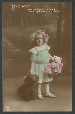 e1211)    EARLY 1900's  POSTCARD BY E.A. SCHWERDTFEGER -    MY DOGGY