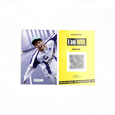 [Stray Kids] I am WHO Official QR Photocard/BEHIND ver. - SEUNGMIN