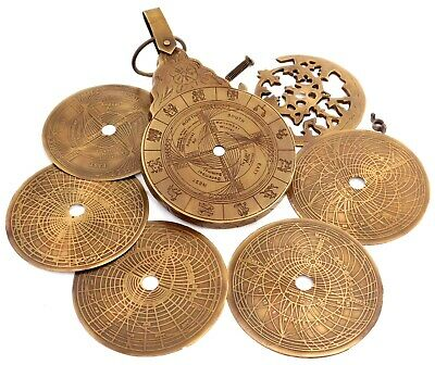 English Arabic Calendar Astrolabe Arabic Globe Navigation Astrological Calendar