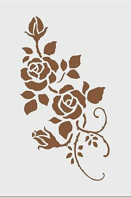 Stencil ROSES Airbrush Art Shabby chic125 mic Genuine Mylar Re-Useable A3  A4