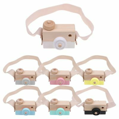 Wooden Cute Camera Toy Children Room Decor Baby Kids Gifts 7 Colors New