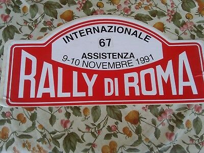 Placca del Rally di Roma 1991