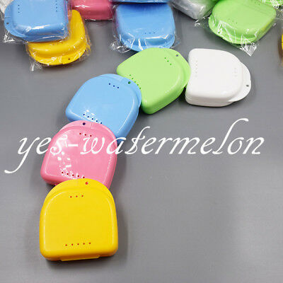 1 Pc Denture Storage Case Dental Orthodontic Retainer Box Mouthguard Container