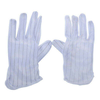 1 Pair Anti-static Anti-skid Gloves ESD PC Computer Electronic Working Whit H2S2