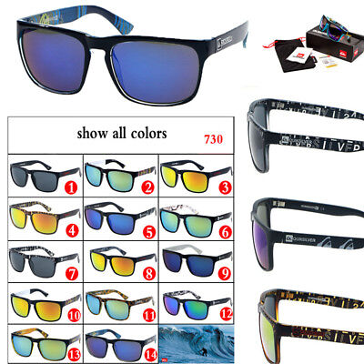 HOT With Box QuikSilver 14 Colors Stylish Men Women Outdoor Sunglasses UV400