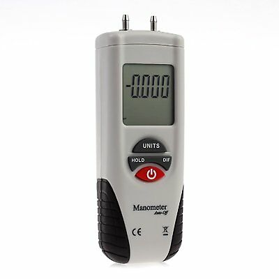 Digital LCD Air Pressure Meter Manometer to Measure Gauge and Differential