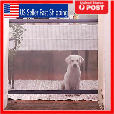 Mesh Magic Pet Dog Gate Safe Guard And Install Anywhere Pets Safety Enclosure US