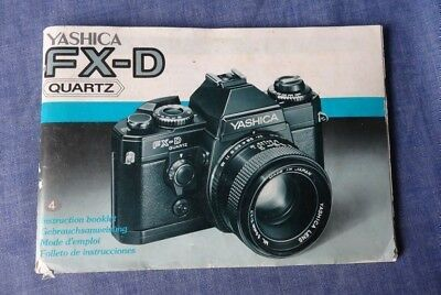 Original User Manual for a Vintage Yashica FX-D Quartz SLR Film Camera