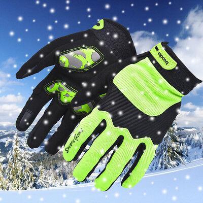winter Touch screen Cycling Gloves Unisex Outdoor Giant Riding Gloves Green XL