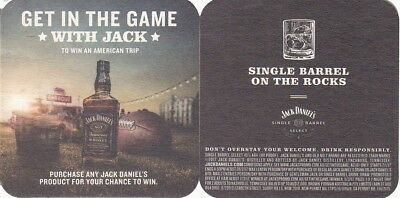 Jack Daniels - Single Barrel on the Rocks Australian Square Beer Coaster