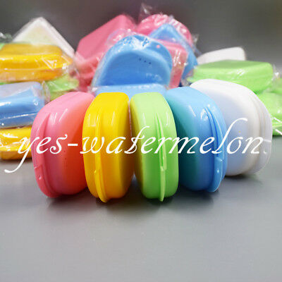 10x Dental Orthodontic Mouth Guard Retainer Denture Case Tray Box Assored Colors