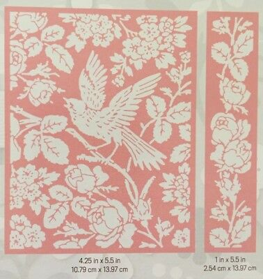 Cuttlebug Anna Griffin 2pc Embossing Folders 'Aviary Voliere Pajarera'