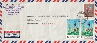 U 78 Singapore Oct 1970 air cover UK; 75c rate; Osaka Expo stamps +