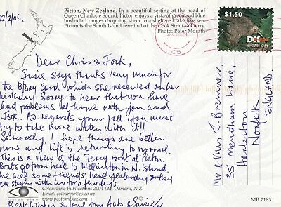 U 3287 Singapore cancel May 2006 on DX New Zealand post private mail postcard