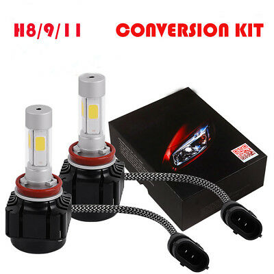 2X 80W H8 H9 H11 6000K LED Headlight KIT Bulb Beam lamp for Hyundai Sonata 2010