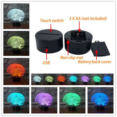3D Panel Lamp Acrylic USB Color Changing LED Night Light Halloween Colorful lamp