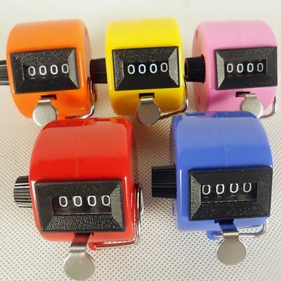 4Digit Hand Number Tally Counter Mechanical Manual Clicker Click Manual Counting
