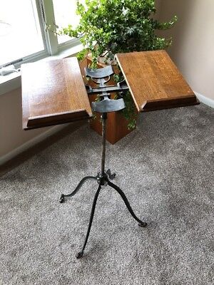 Antique Adjustable Bible Book Stand.