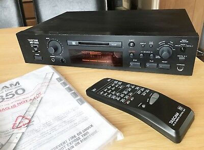 Tascam Professional division Mini Disc Player Recorder MD-350