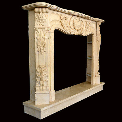 Fireplace Marble Yellow Egypt Frame Style Classic Egypt Marble Old Fireplace