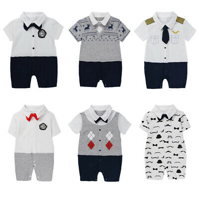 Newborn Infant Kids Baby Girl Boy Romper Bodysuit Jumpsuit Clothes Outfits UK
