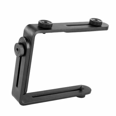 Double Dual L-shaped Metal Bracket/Holder Mount for Canon Camera&Speedlite Flash