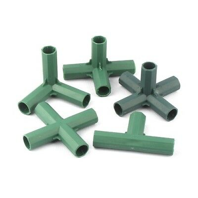 16mm Garden Plastic Pillar Connectors Vegetable Climbing Plants Pole Joints