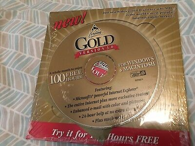 America Online AOL Gold Version 3.0 for Windows and Macintosh