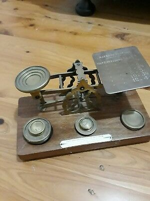 Antique Postal Scales..S. mordan and co... 19century