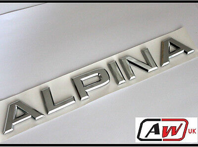 Alpina Badge emblem Car Rear Trunk Boot M Tec Tech  M3 M5 M6 1 3 5 6 Series 23r