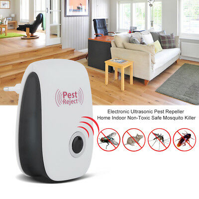 Ultrasonic Plug In Pest Repeller & Night Light Mouse Mice Rat Spider Insects @UK