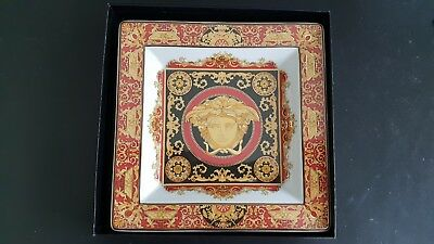 Versace Red Medusa Large Ash Tray By Rosenthal - Iconic Collectible