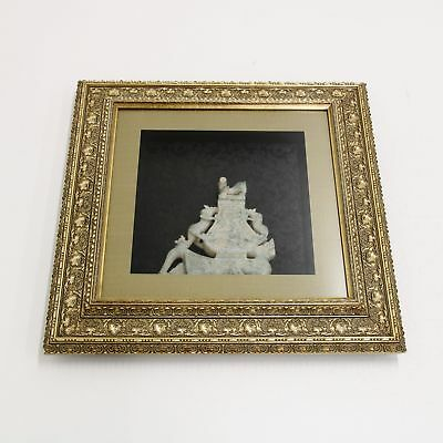 Jade Look Statue Mounted in Imitation Gold Frame #419