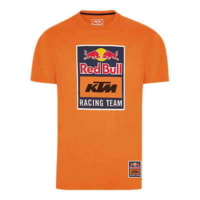 Red Bull T-Shirt KTM Racing Team Logo - Pumpkin