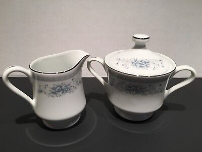 American Limoges Bridal Bouquet Sugar and Creamer