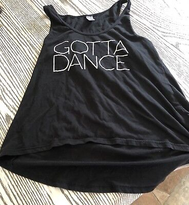 Girls Large Black Tank Top(Gotta Dance)