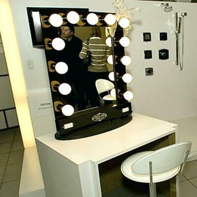 Chende Tabletops Vanity Mirror with Lights Hollywood Style with 10 LED bulbs MA