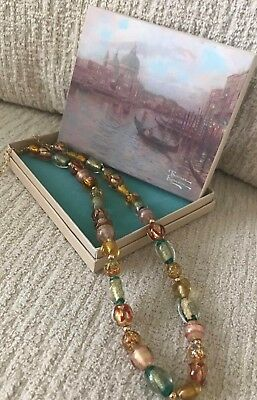 Thomas Kinkade Colors Of Venice Necklace.