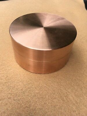 """Copper Round, Rod, Bar Approx. 3"""" Dia. 1-1/2"""" Long"""