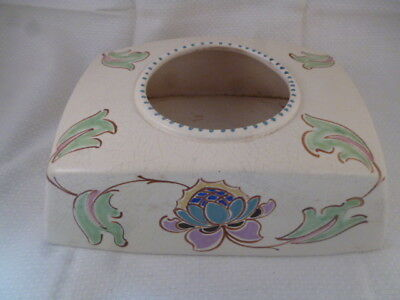 Honiton Pottery Rare Shaped Rectangle Art Deco Vase
