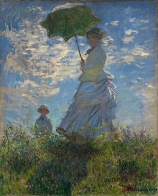 Woman with a Parasol and Her Son Claude Monet 24 x 20 cm Polly Canvas Print 1875