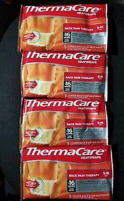 Thermacare Heatwrap Back Pain Therapy S-M(Pack of 4)
