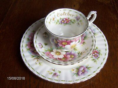 Royal Albert tas,ontbijtsetje bone China cosmos 1970 OKTOBER