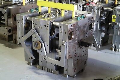 """used plastic injection mold 3 7/8"""" lid,12 cavities stack mold,husky hot runner"""
