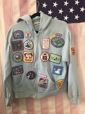 49 VINTAGE PATCHES. Jacket/Hoodie Girl Scouts Camp Travel Round Up