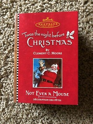 Hallmark KeepsakeTWAS THE NIGHT BEFORE CHRISTMASOrnament NOT EVEN A MOUSE