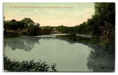 Early 1900s The Eagle Mill-Smith Paper Co. on the Housatonic, Lee, MA Postcard