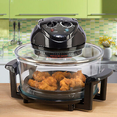 Countertop Halogen Hot Air Cooker 12 Quart Turbo Convection Oven with Rotisserie